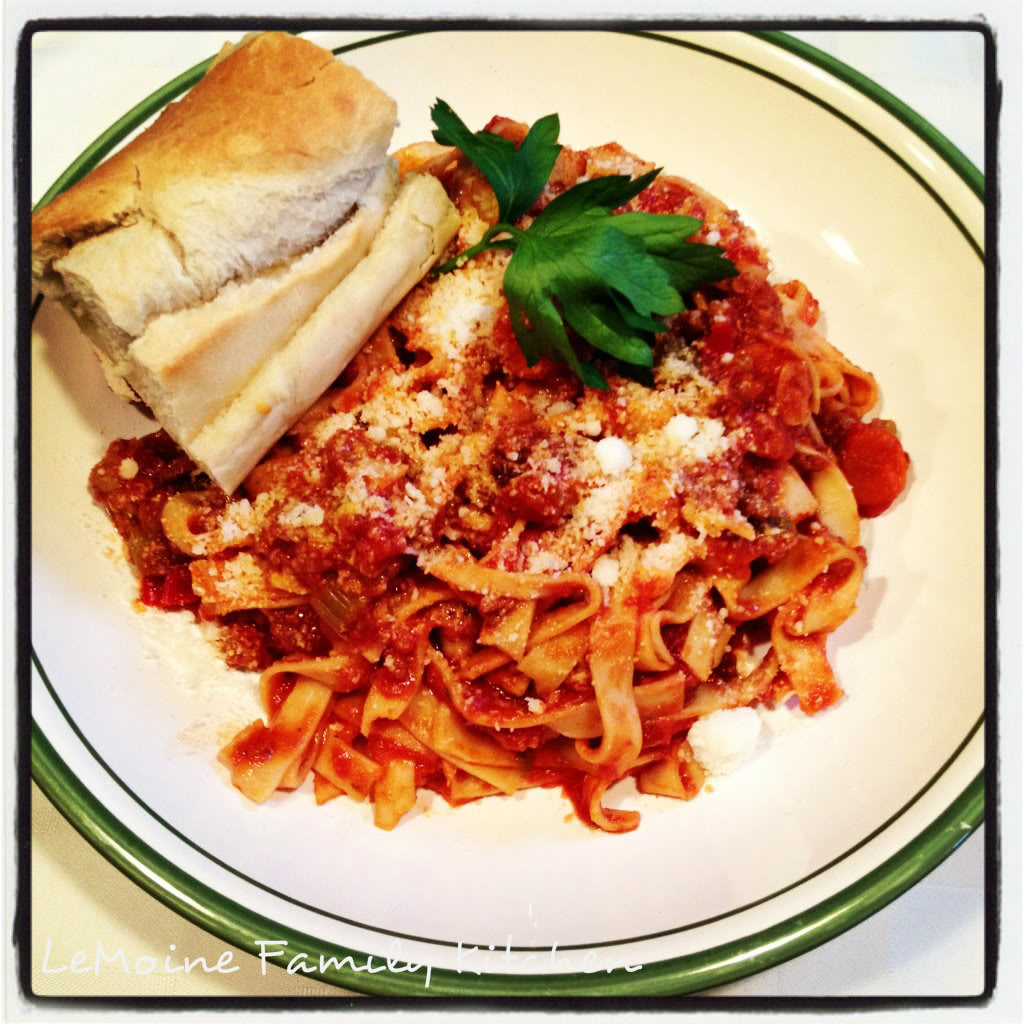 Veggie Packed Turkey Bolognese