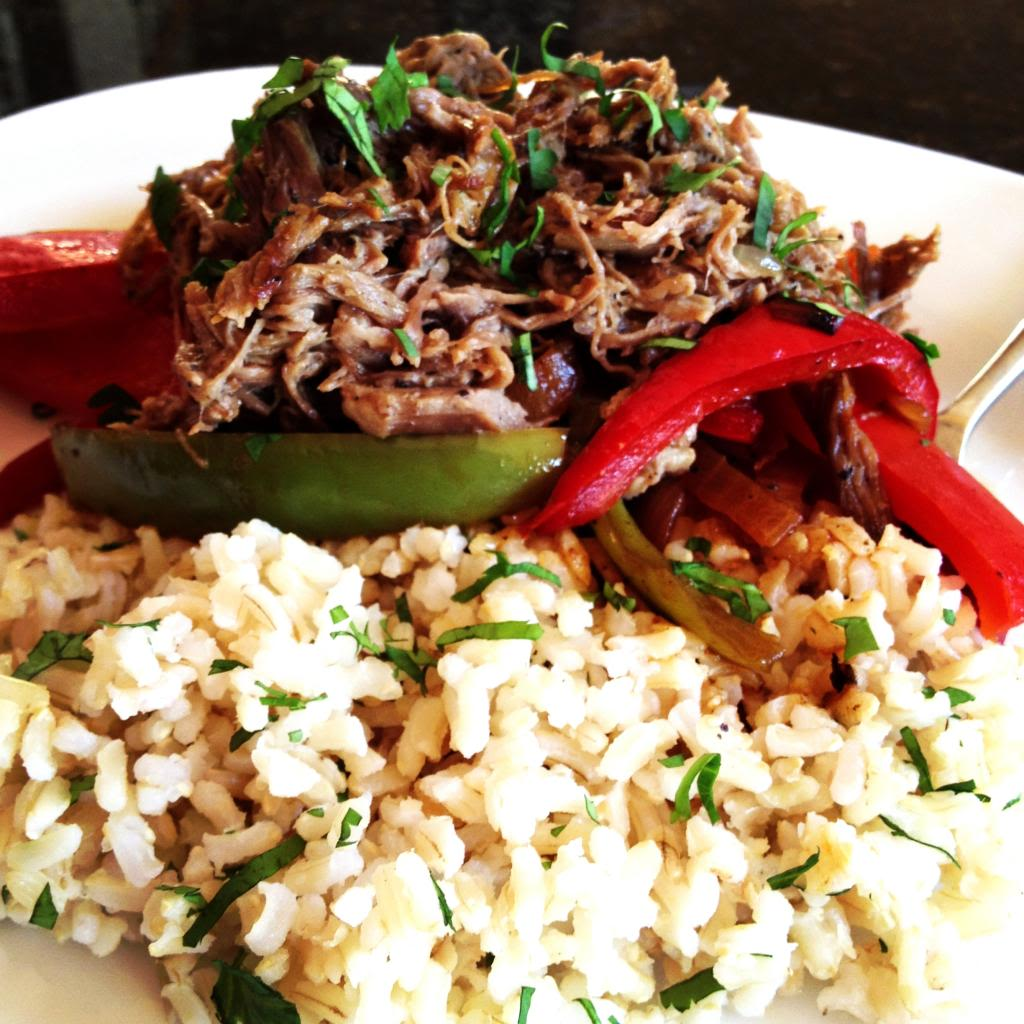 Steak Carnitas & Sautéed Peppers over Cilantro Lime Rice | LeMoine Family Kitchen