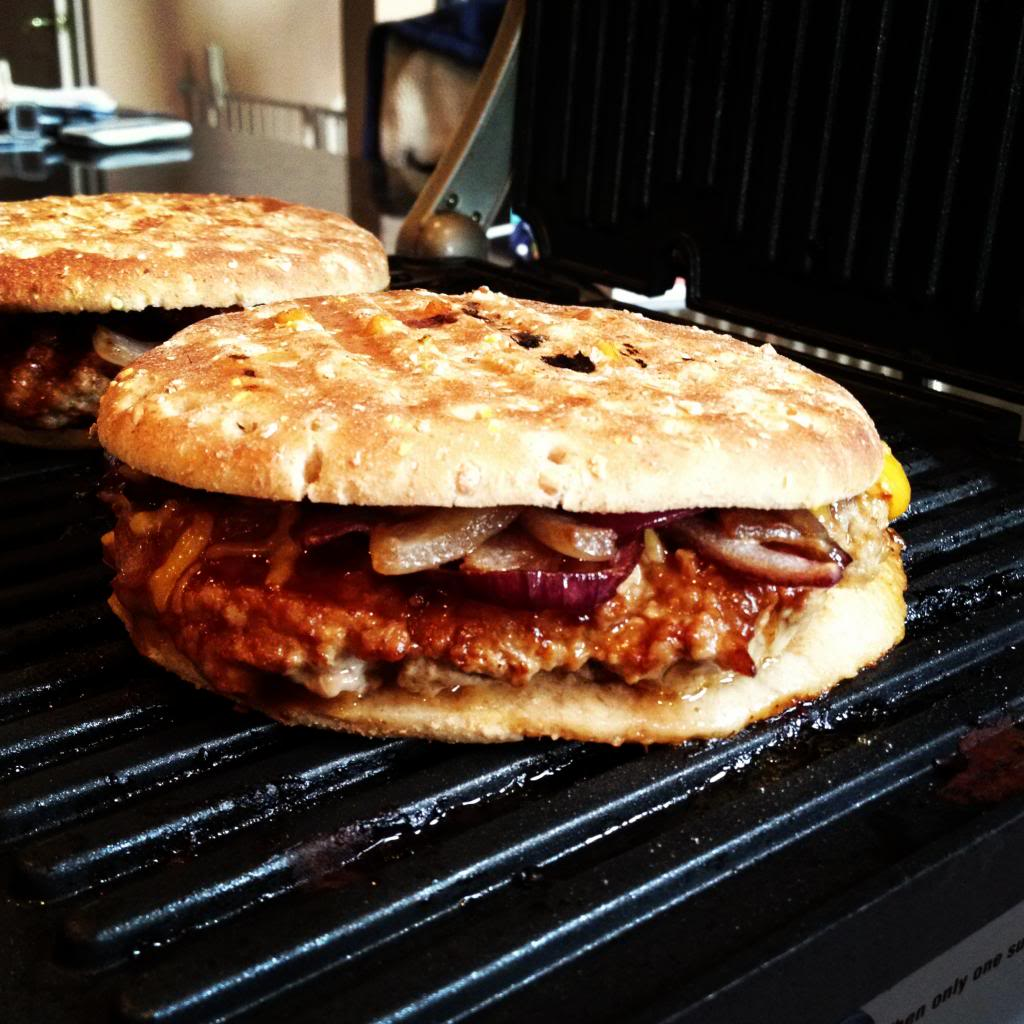 Pressed BBQ Turkey Burger