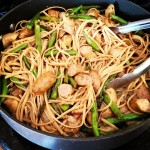 Springtime Pasta :: Linguini with Chicken Sausage & Asparagus