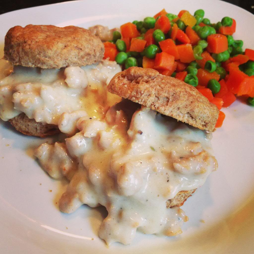 Whole Wheat Biscuits & Chicken Sausage Gravy
