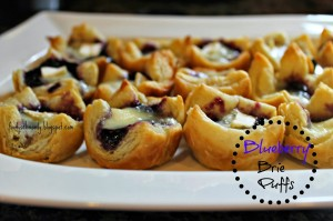 blueberry brie puffs