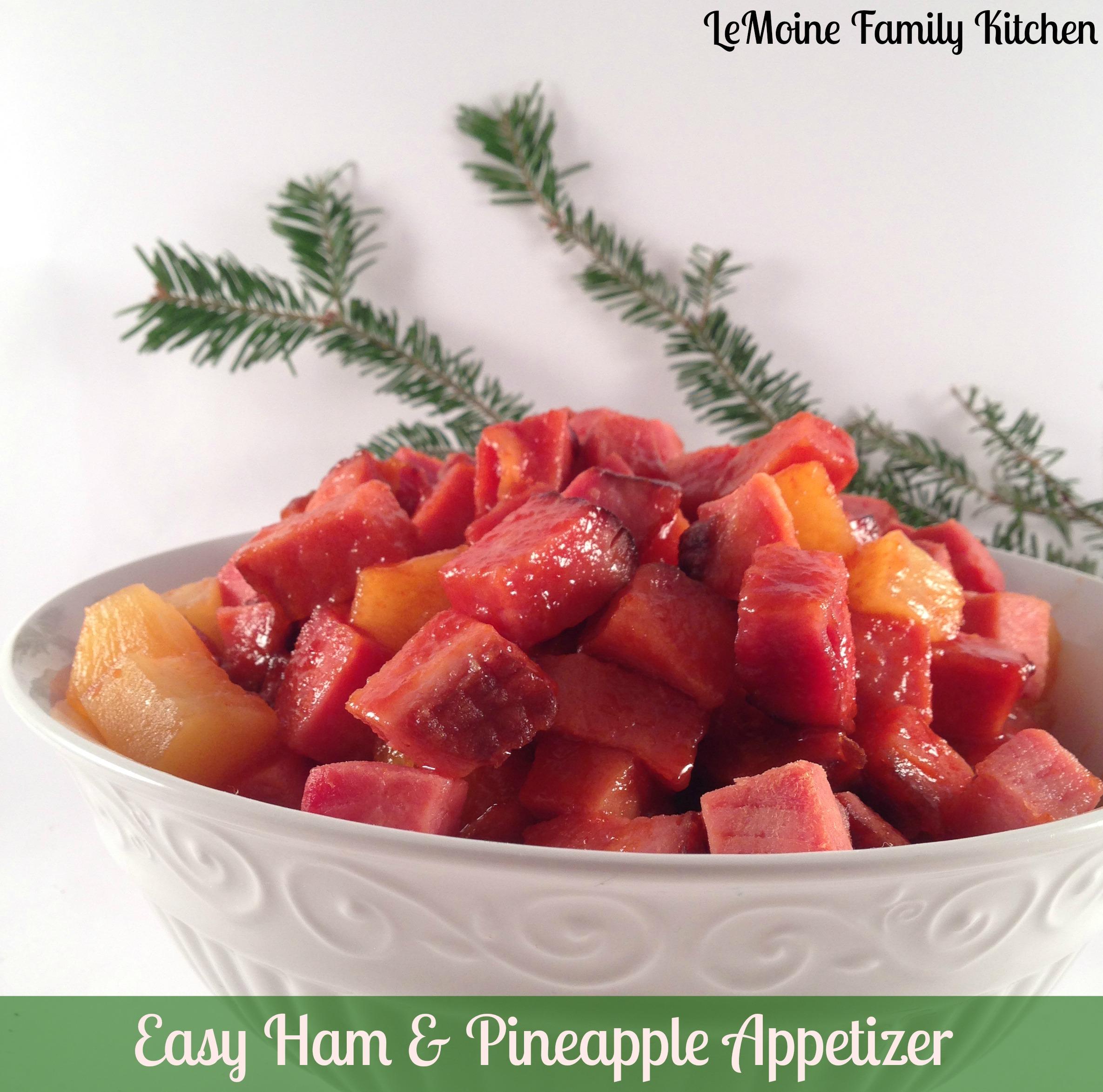 Easy Ham & Pineapple Appetizer