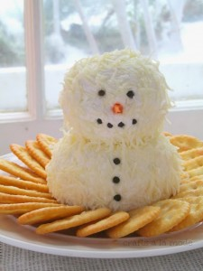 snowman with crackers
