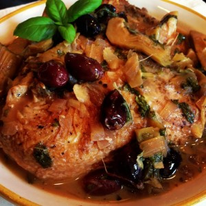 braised chicken with artichoke hearts and olives