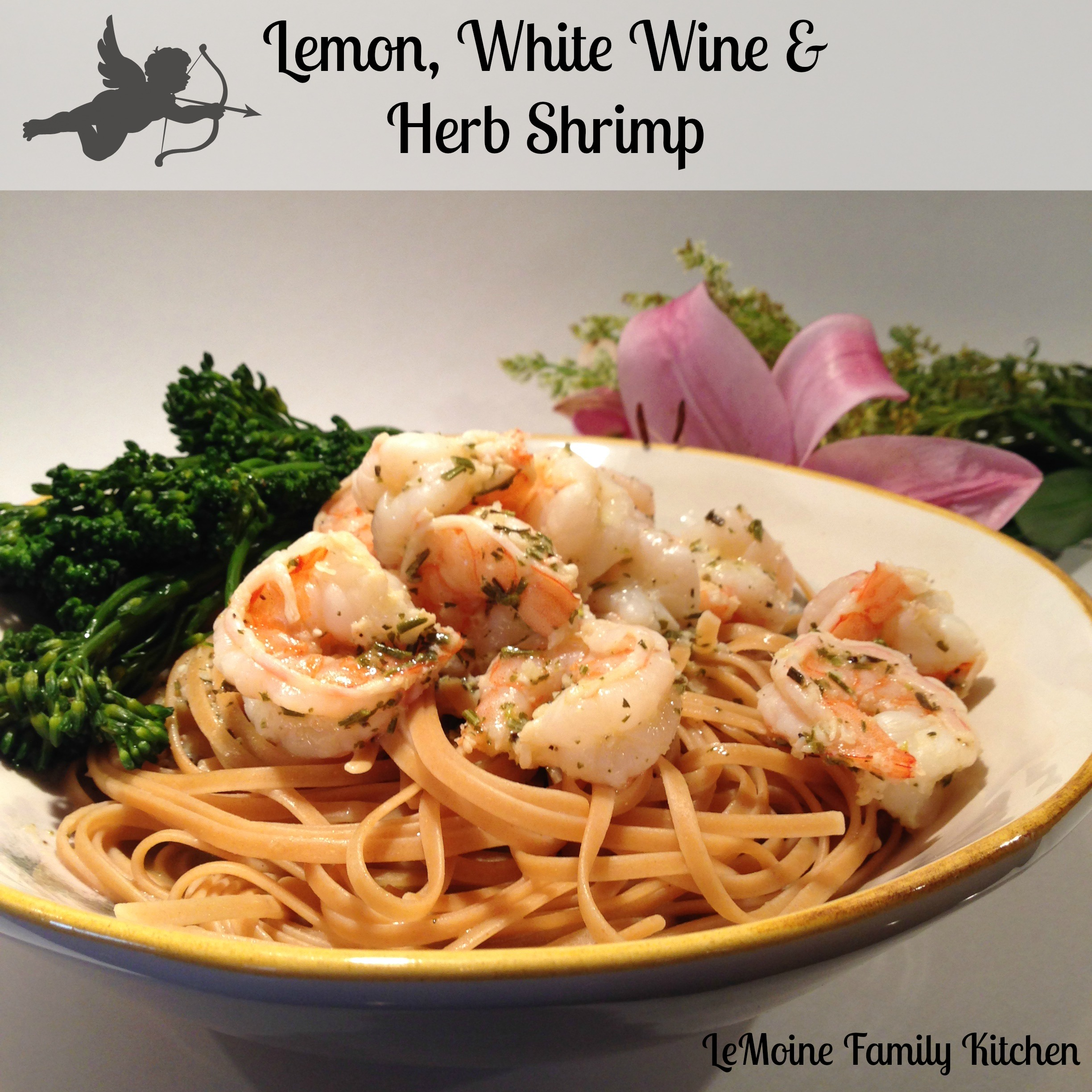 Lemon, White Wine & Herb Shrimp :: Valentines Day Dinner