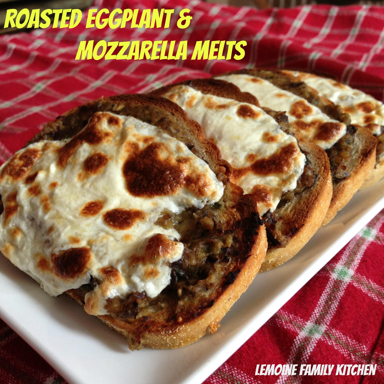 Roasted Eggplant & Mozzarella Melts