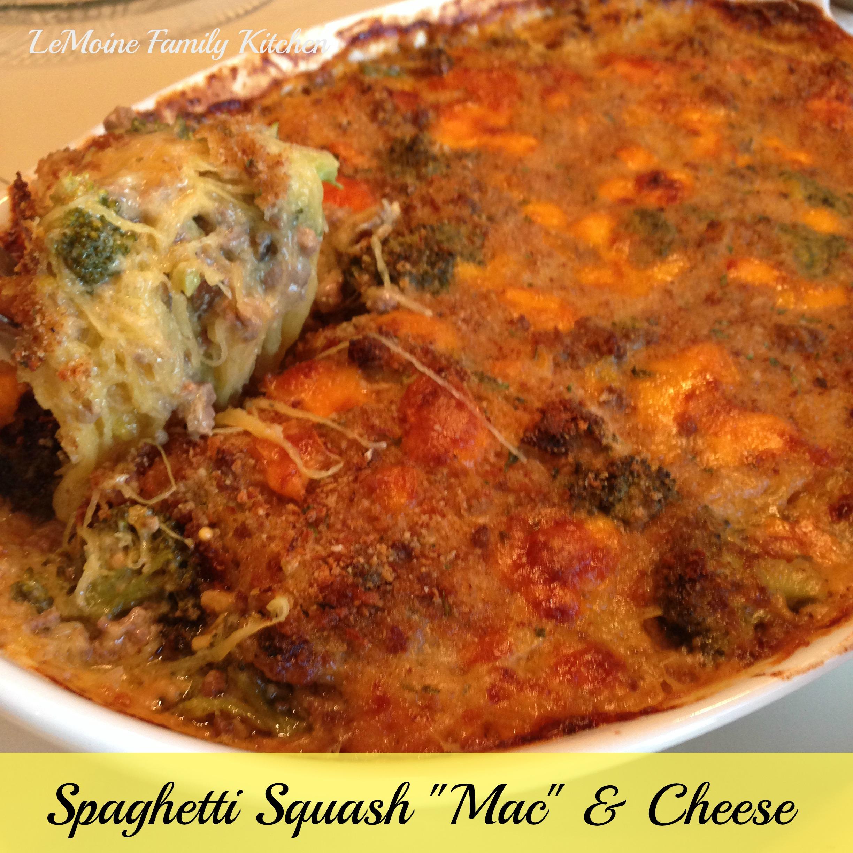 """Spaghetti Squash """"Mac"""" & Cheese"""
