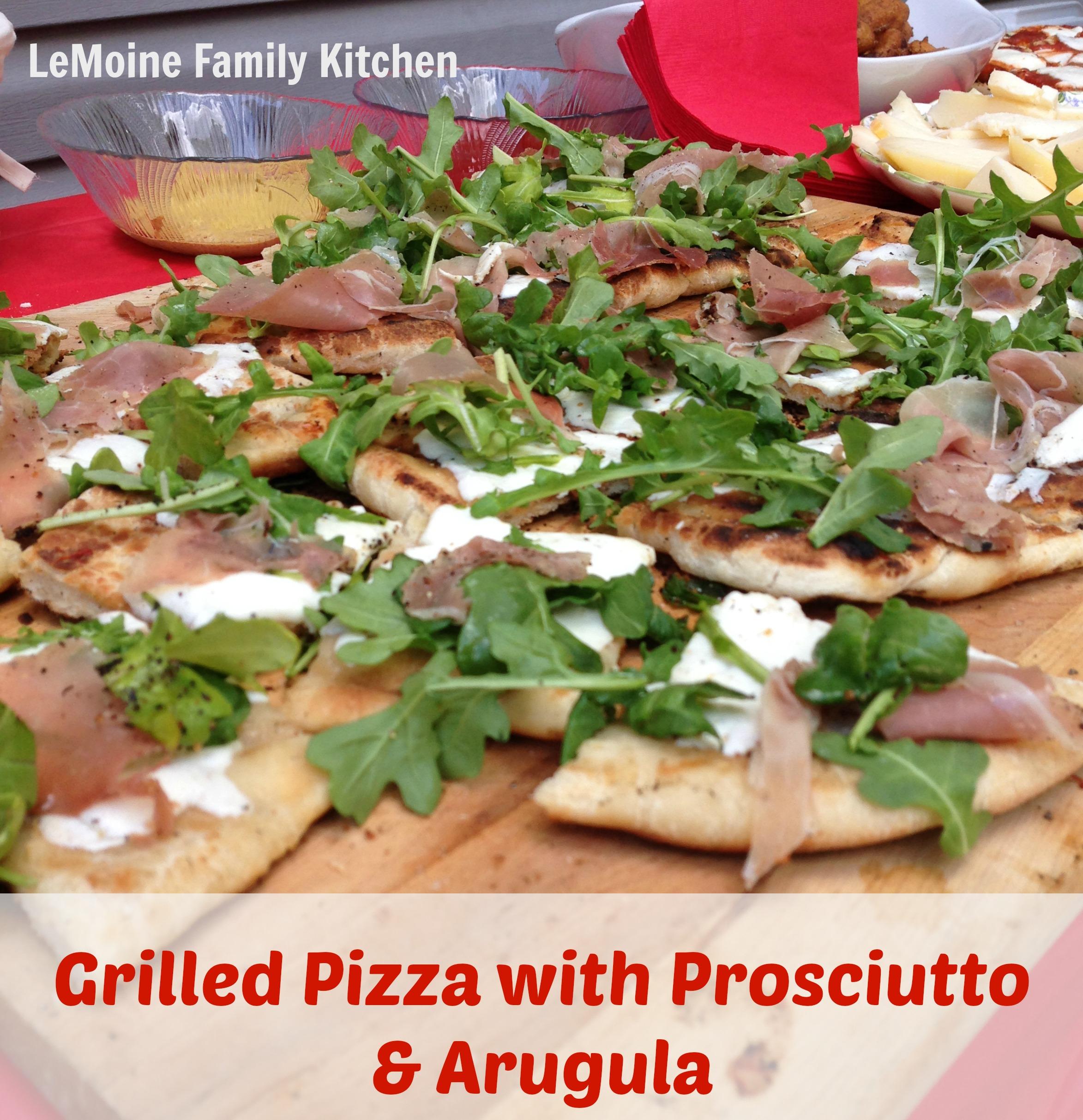 Grilled Pizza with Prosciutto & Arugula