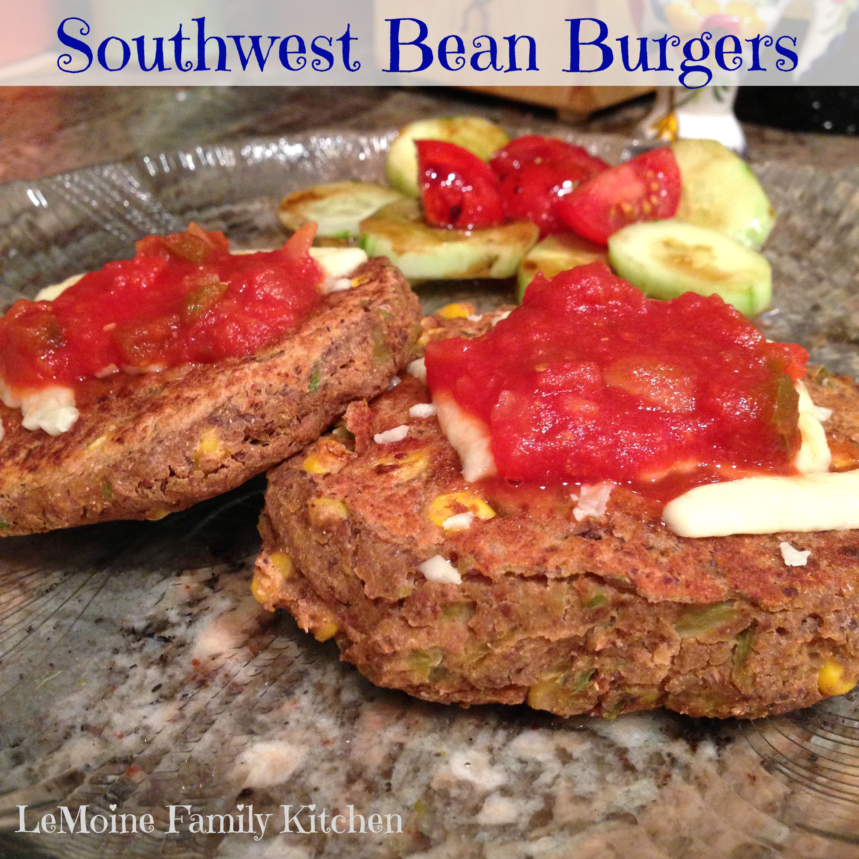 Southwest Bean Burgers