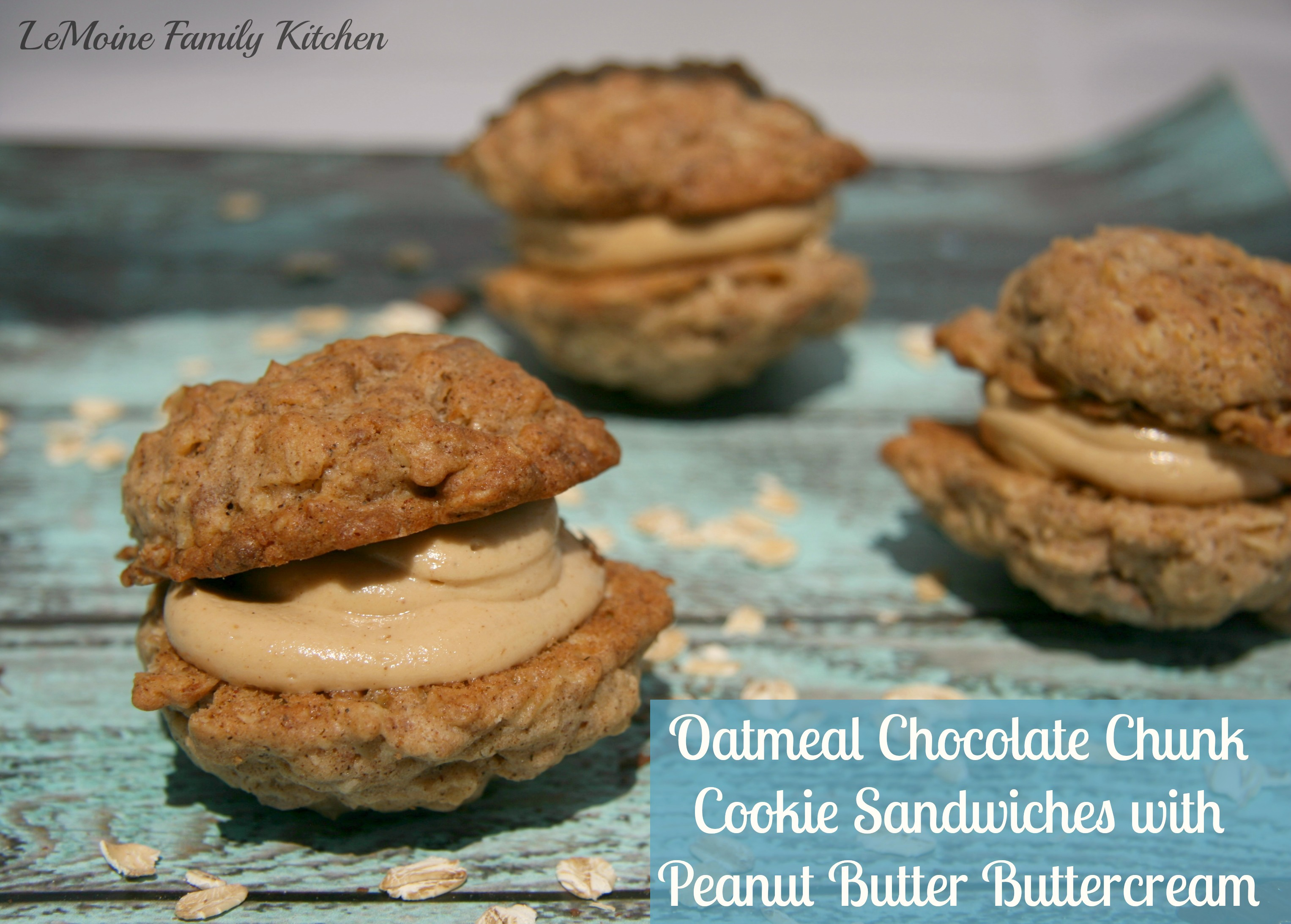 ... Chocolate Chunk Cookie Sandwiches with Peanut Butter Buttercream