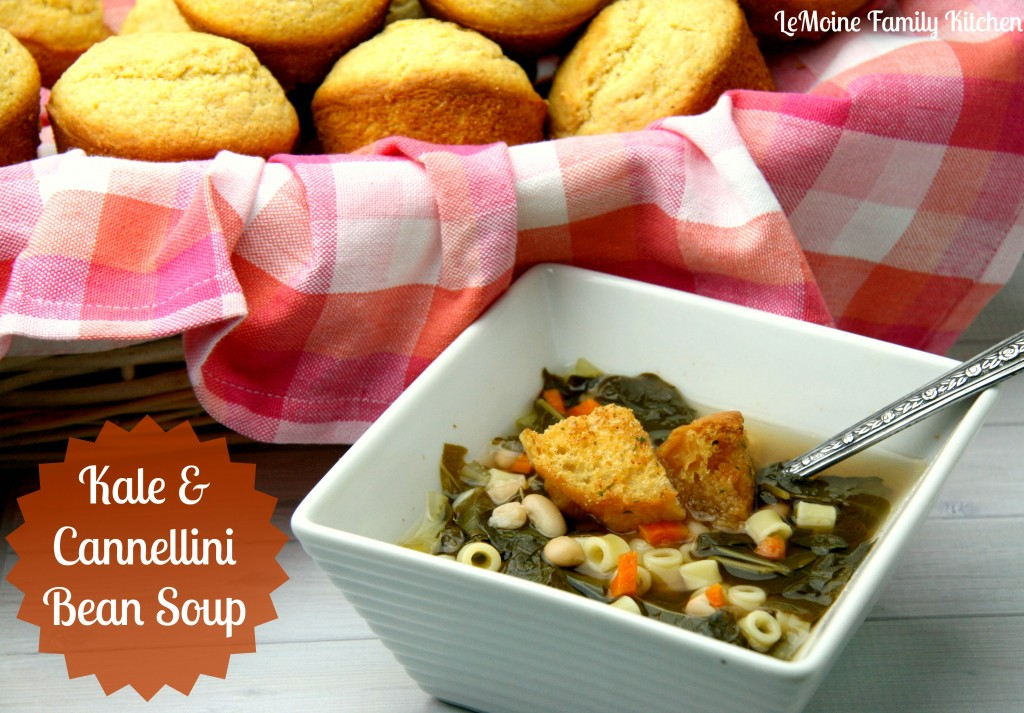 Kale & Cannellini Bean Soup | LeMoine Family Kitchen #soup #kale #healthy #cleaneating #meatlessmonday #vegetarian