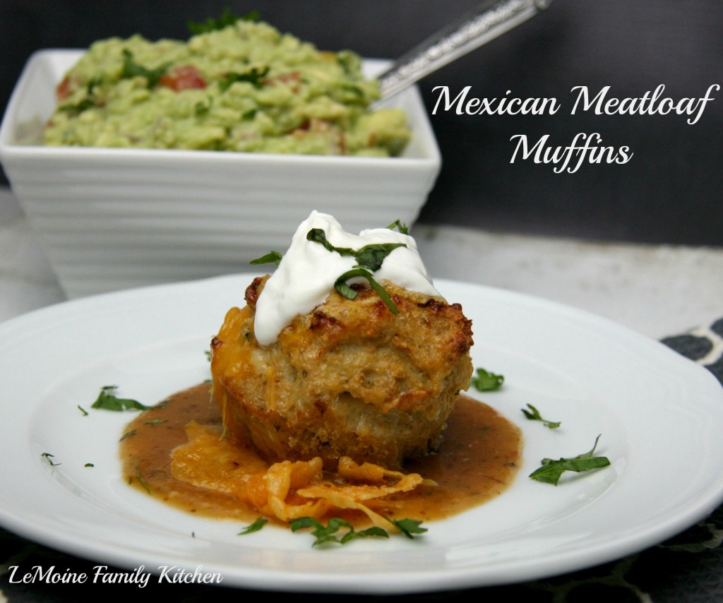 Mexican Meatloaf Muffins | LeMoine Family Kitchen  #chicken #meatloaf #chili #muffin #mexican